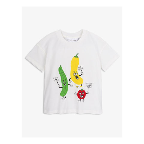 Mini Rodini, Veggie SP Short Sleeve T-Shirt, White