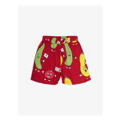 Mini Rodini, Veggie Woven Shorts, Red