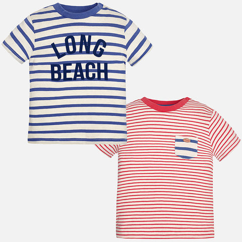 cd8774b9c4 Mayoral Baby Boy, 2 Pack Short Sleeve Striped T-Shirts ...