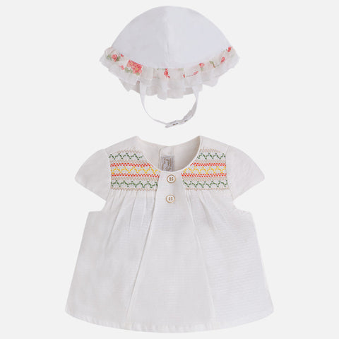 Mayoral Baby girl short sleeve t-shirt with frill and shorts