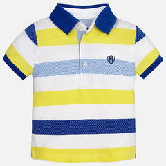 Mayoral Baby boy striped short sleeve polo