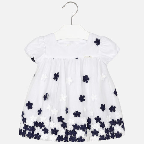 Mayoral Baby girl floral dress, navy