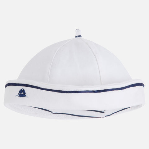Mayoral Baby boy reversible sailor style hat, navy