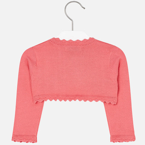 Mayoral, Baby Girls Cardigan, Coral
