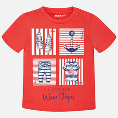 Mayoral, Baby Boys Short Sleeve T-Shirt, Grenadine