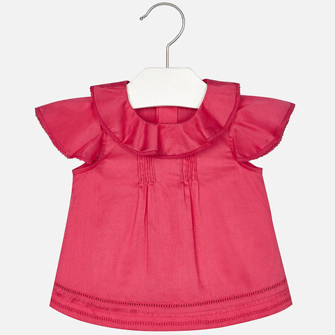 Mayoral, Baby Girls Ruffled Blouse, Fuchsia