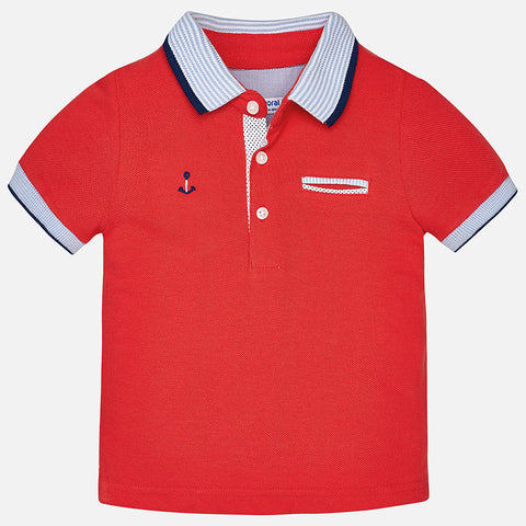 Mayoral, Baby Boys Short Sleeve Polo Shirt, Grenadine