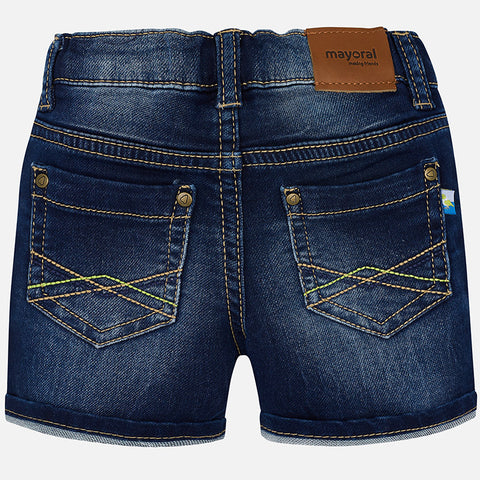 Mayoral, Baby Boys, Denim Shorts, Dark Denim