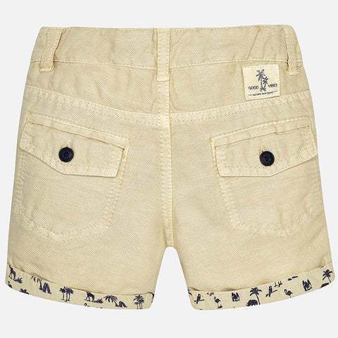Mayoral, Baby Boy, Linen Shorts, Hemp Plant