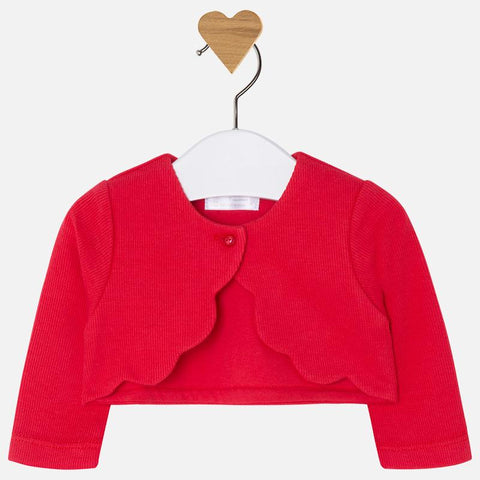 Mayoral, Newborn Girls Knit Cardigan, Poppy Red