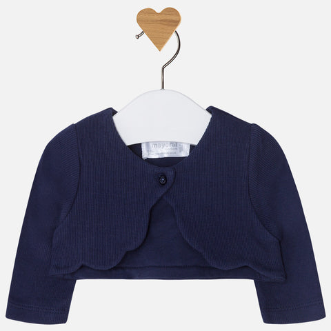 Mayoral, Newborn Girls Knit Cardigan, Navy