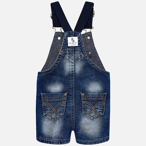 Mayoral, Baby Boys, Denim Dungarees, Dark Denim