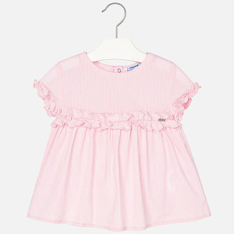 Mayoral, Girls Check Poplin Blouse, Pink