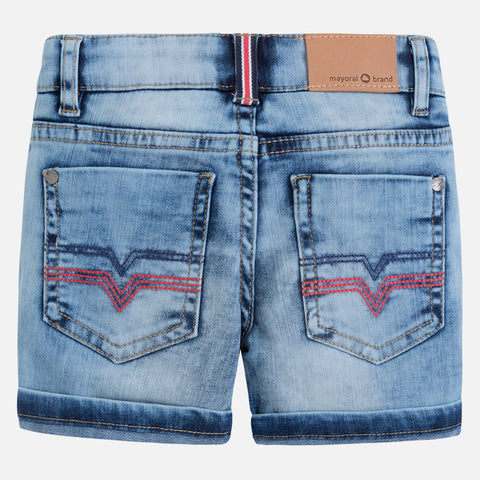 Mayoral, Boys Lightwash Denim Shorts, Soft Denim