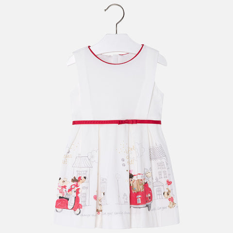 Mayoral, Girls Jersey Printed Dress, Red