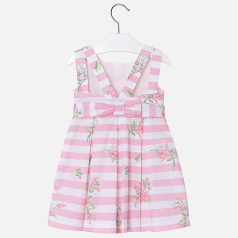 Mayoral, Girls Poplin Dress with Back Bow, Pink