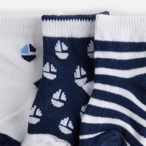 Mayoral, Newborn Boys, 3 Pack Socks, Navy