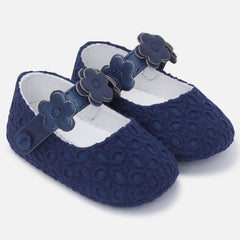 Mayoral, Newborn Girls, Mary Jane Shoes, Navy