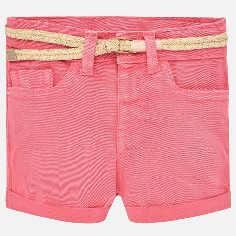 Mayoral Baby Girl Twill Shorts With Belt
