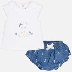 Mayoral Newborn Girl Frilly Pants Set