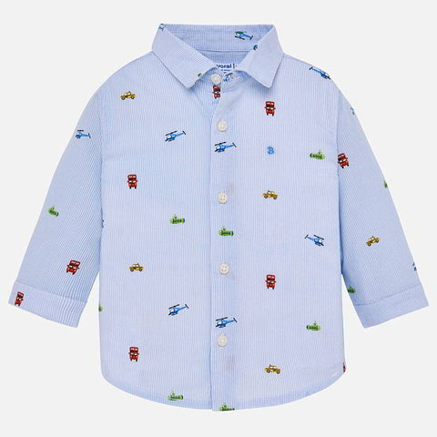 Mayoral Baby Boys Light Blue Shirt