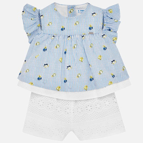 Mayoral Baby Girl Striped All-in-One Daysuit