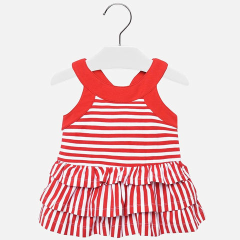 Mayoral Baby Girl Red Stripe Frill