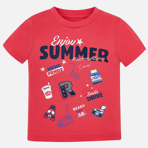 Mayoral Boys Enjoy Summer T-shirt
