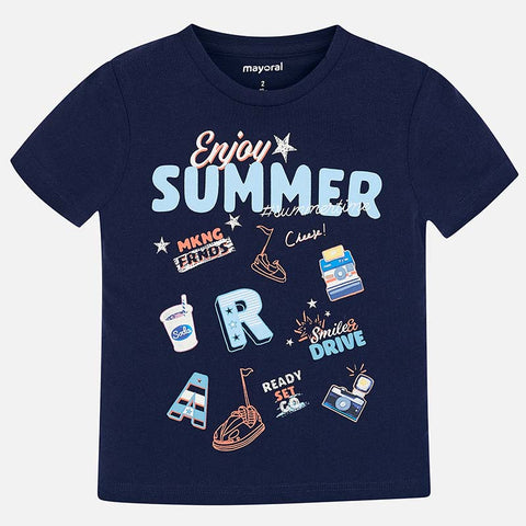 Mayoral Boys Navy Summer T-shirt