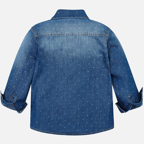 Mayoral Boys Long Sleeve Denim Shirt