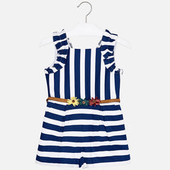 Mayoral Girls Nautical Stripes Jumpsuit