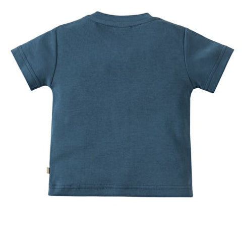 Frugi, Little Creature Applique Top, Soft Navy/Totem