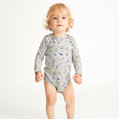 Soft Gallery, Baby Boys Bob Bodysuit, Grey Melange, Freestyle
