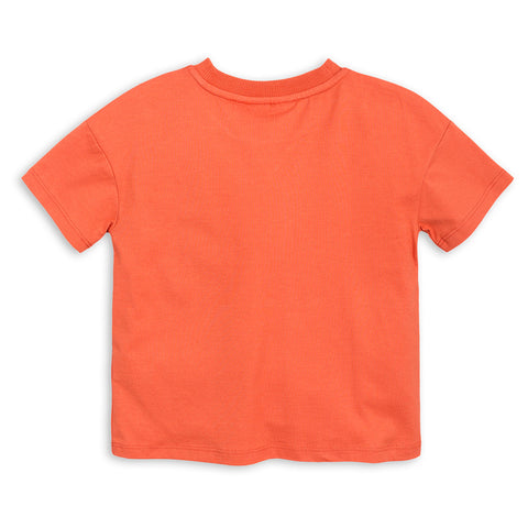 Mini Rodini, Mother Earth Short Sleeve T-Shirt, Orange