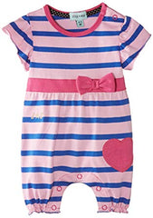 Lilly & Sid Marshmallow Stripe Romper
