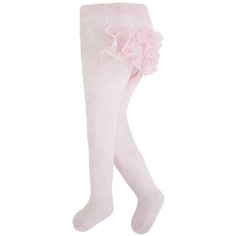 Mayoral, Newborn, Lace Frilly Tights, Pink