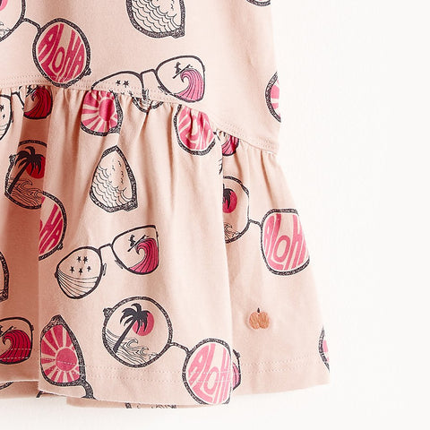 The Bonnie Mob, Baby Baja Sun Dress, Pink Sunnies Print