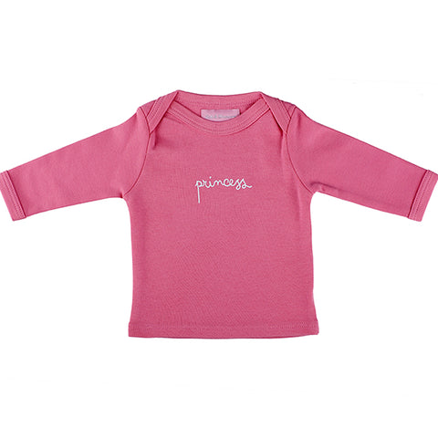 Bob & Blossom, Princess Baby, Long Sleeve Top, Bright Pink
