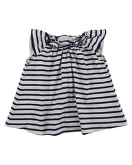 Lilly & Sid Baby Girl Gathered Stripe Dress