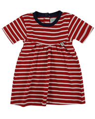 Lilly & Sid Baby Girl Red-Stripe Jersey Dress