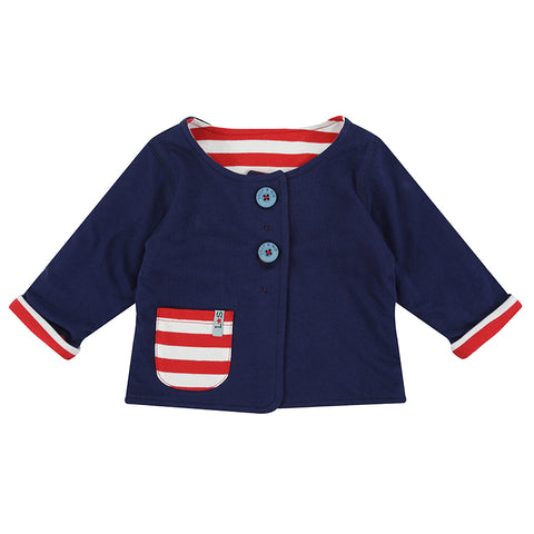 Lilly & Sid Baby Reverse Stripe Jacket