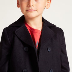 Wild & Gorgeous, Boys Pea Coat, Navy