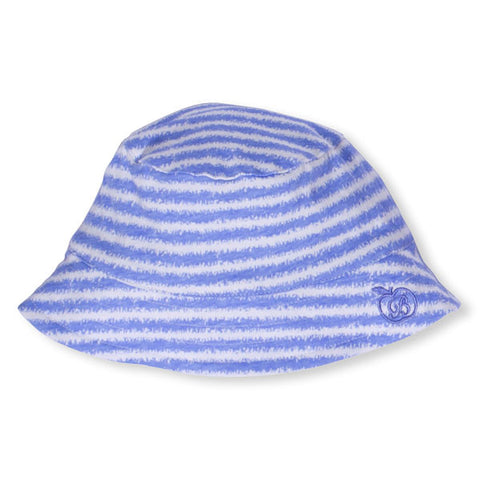 bonnie baby tipsy organic cotton hat: blue