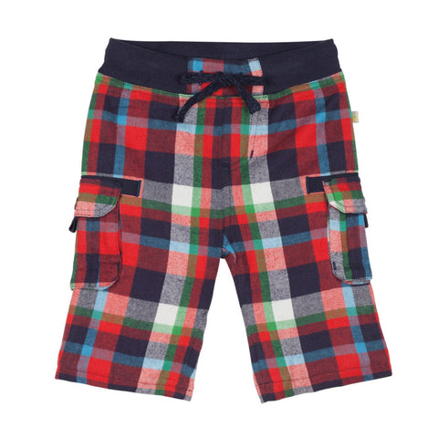 Frugi Little Checked Snugs, Tomato Multicheck
