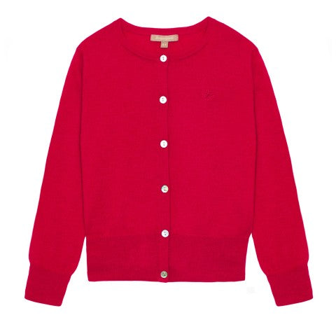 Wild & Gorgeous, Logo Cardigan, Red