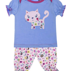 lilly & sid betty cat shorts set