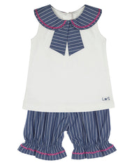 lilly & sid sailor stripe shorts set