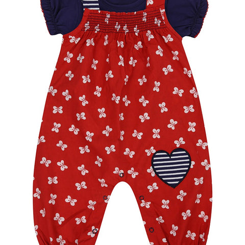 Lilly & Sid, Butterfly Dungaree Set