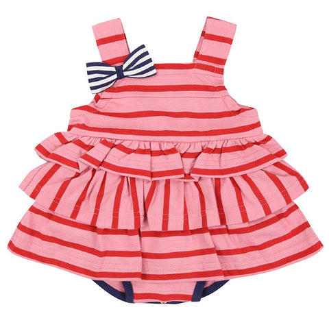 Lilly & Sid, Jersey Sunny Suit, Pink Stripe