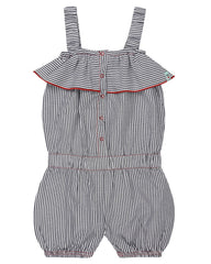 Lilly & Sid, Vintage Frill Playsuit, Ticking Stripe